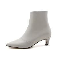 Arden Furtado 2018 spring autumn sexy stilettos party shoes ladies slip on pointed toe ankle boots