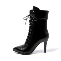 Arden Furtado 2018 spring autumn cross tied  pointed toe ankle boots