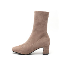Arden Furtado 2018 spring autumn pointed toe ankle boots chunky heels boots woman shoes ladies
