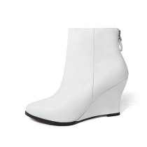 Arden Furtado 2018 spring autumn wedges  boots pointed toe ankle boots