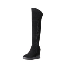 Arden Furtado 2018 spring autumn  platform  pointed toe  over the knee high boots wedges  boots woman shoes ladies