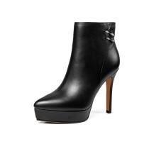 Arden Furtado 2018 spring autumn  platform zipper sexy stilettos party shoes ladies slip on  ankle boots