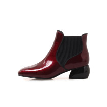 Arden Furtado 2018 spring autumn chunky heels boots  round toe ankle boots