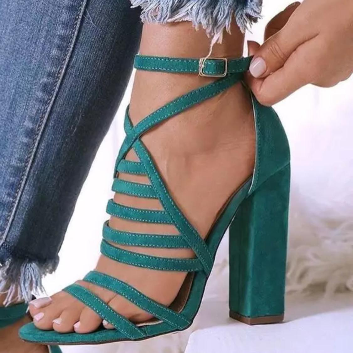 women's shoes summer chunky heels peep