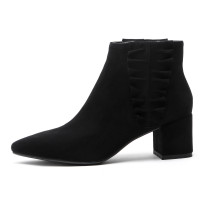 Arden Furtado 2018 spring autumn chunky heels boots  pointed toe ankle boots