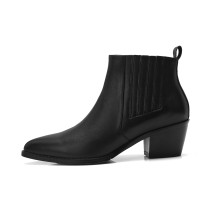 Arden Furtado 2018 spring autumn zipper chunky heels boots woman shoes ladies