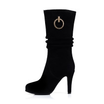 Arden Furtado 2018 spring autumn zipper sexy stilettos party shoes ladies slip on round  toe ankle boots