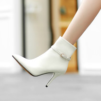 Arden Furtado 2018 spring autumn zipper sexy stilettos ladies slip on pointed toe ankle boots smalll size 33 genuiner leather shoes