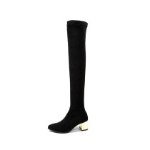 Arden Furtado 2018 spring autumn chunky heels boots  pointed toe over the knee high boots