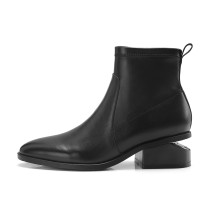 Arden Furtado 2018 spring autumn chunky heels boots party shoes ladies slip on  round toe