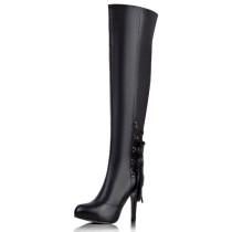 Arden Furtado 2018 spring autumn  sexy stilettos party shoes ladies slip on pointed toe over the knee high boots