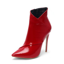 Arden Furtado 2018 spring autumn zipper sexy stilettos party shoes ladies red white brown pointed toe ankle boots