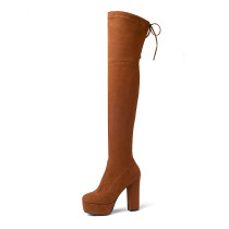 Arden Furtado 2018 spring autumn chunky heels boots round toe  over the knee high boots