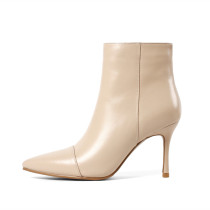 Arden Furtado spring autumn sexy stilettos party shoes ladies zipper genuine leather pointed toe ankle boots high heels 8cm drop shipping