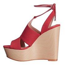 wedges sandals platform blue peep toe cross tied shoes women's ladies high heels 15cm fashion shoes