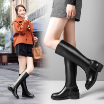 women's boots knee high boots fashion Genuine leather comfortable