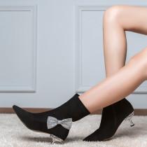 women's boots stilettos fashion bowknot butterfly knot Minimum 32 yards maximum 42 yards