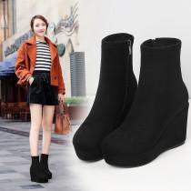 Inner high fashion women short boots pull wire slightly round head