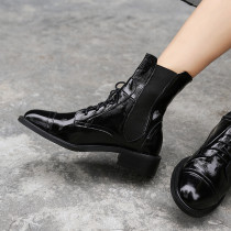 Fashion 2018 autumn winter hot style domineering British style women's lace-up Martin boots