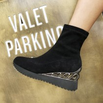 Autumn winter 2018 fashion women's wedges casual booties ankle boots Stretch boots