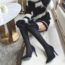 2018 autumn and winter fashion classic slender high heel pointed female boots