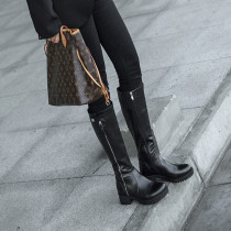 European and American long round head boots in autumn and winter 2018