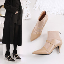 South Korea's top brand women's shoes South Korea's daigou online explosive single pointed stiletto ankle boots