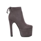 Winter 2018 women's shoes Europe station fashion international quality queen waterproof platform thick heel lift women's boots