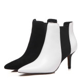 2018 autumn winter women's shoes hot style simple pure color pointed temperament short style women's boots