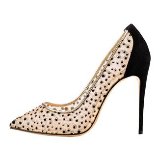 summer women's fashion hot style women's net breathable women's temperament princess mesh stilettos shoes wedding shoes pumps