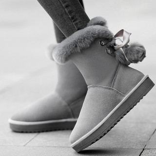 2018 fashionable women's shoes with fleece and thick warm and frost-proof feet snowshoe ankle boots