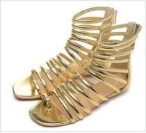 Summer 2019 fashion sandals hot style gladiator gold leather large size personality party shoes sandals