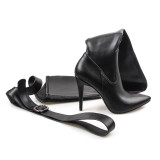 Fashion women's shoes stilettos heels elegant thigh high boots leather personality models of foreign trade pants boots