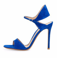 Summer 2019 fashion trend women's shoes buckle sandals stilettos heels sexy elegant party shoes narrow band office lady concise  big size black blue