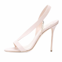 Summer sweet 2019 fashion women's shoes sling back concise white sandals stilettos heels narrow band elegant party shoes size 45