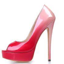 Summer blue purple  rose red black  peep toe 2019 fashion trend women's shoes sexy stilettos heels pumps elegant party shoes