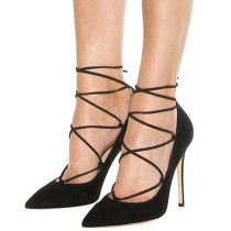 Summer office lady 2019 fashion trend women's shoes sling back beige stilettos heels black elegant pointed toe pumps party shoes