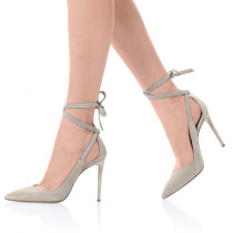 Summer ankle strap 2019 fashion trend narrow band concise women's shoes beige pointed toe stilettos heels office lady elegant party shoes  big size