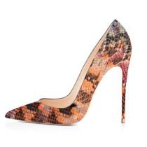 Summer serpentine office lady 2019 fashion trend office lady women's shoes slip-on pumps mature pointed toe big size stilettos heels elegant
