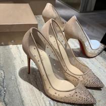 wedding shoes stilettos high heels 12cm mesh pumps fashion ladies big size pointed toe party shoes