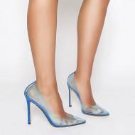 yellow red orange stilettos pumps clear pvc shoes high heels women's shoes large size 47 48 party shoes 10cm heels sandals