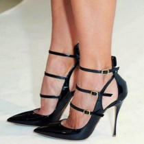 stilettos high heels fashion women's shoes big size party shoes ladies sandals narrow band buckle shoes for girls