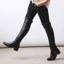 Fashion customized for all sizes women's shoes in winter 2019 pointed toe comfortable over the knee high boots  sexy elegant ladies boots concise mature