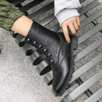 Fashion women's shoes in winter 2019 pointed toe women's boots ladies boots concise mature office lady black leather classics
