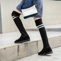 Fashion women's shoes in winter 2019 round toe round toe slip-on over the knee high boots leisure big size concise comfortable