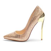 stilettos high heels 12cm gold heels pumps party shoes women's shoes ladies sexy wedding shoes
