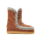 flat platform snow boots warm fashion brown cow suede ankle boots women's shoes large size 42 43