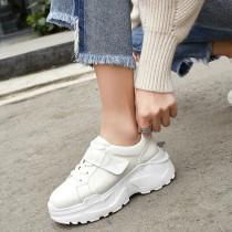 Spring and autumn 2019 fashion women's shoes cross lacing concise mature personality beige black