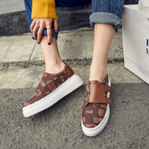 Spring and autumn 2019 fashion women's shoes round toe classics casual shoes personality shallow concise leisure comfortable