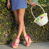 2019 summer platform wedges sandals ankle strap Bohemia shoes ladies cover heels women's shoes larger size